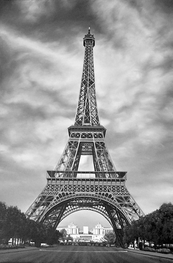 Eiffel Tower Picture Black  White on Eiffel Tower